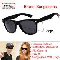 acrylic logos - Classic Coating Sunglasses Men Women brand design Sun glasses oculos de sol masculino eyewear With Original case and logo