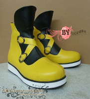Wholesale Kingdom Hearts Sora yellow with back ver Cosplay Boots Shoes shoe boot NC604 Custom made Hand made