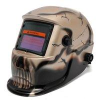 auto darkening helmets - Skull Gold Electro Solar welding Mask Auto Darkening Welding TIG MIG Welder Helmet MAC_10T