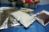 Aluminum Foil aluminum plate aluminium - 200pcs cm Translucent plating aluminium ziplock bag Zipper reclosable aluminizing foil plastic pouch with front clear