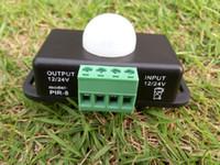 Wholesale Mini Human Body Infrared Motion Sensor Switch for LED Strip Light A V V Work With SMD LED Reel Lights CE ROSH DHL