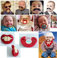 Wholesale Infant Silicone Funny Baby Pacifier Nipple Dummy Baby Soother Joke Prank Toddler Pacy Orthodontic Pacifiers Teether Pacifiers Care