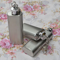 Wholesale Silver Color Portable Durable Pocket oz Wine Flask Bottle Mini Stainless Steel Liquor Flask Screw Cup