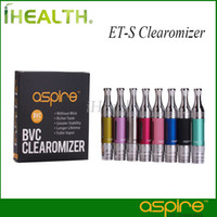 Wholesale Aspire ET S BVC Tank ml ETS BVC Clearomizer Aspire ET S BDC Clearomizer with BVC Coil Head Original