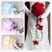 artificial waterfall - 2016 New Bridal Bouquet Wedding Accessories Wedding Bouquet Waterfall style edging Holding Flowers Hand Made Artificial Flower