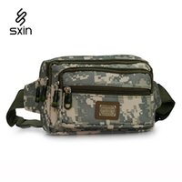 Wholesale Men Nylon Camouflage Multi pocket Waist Bags Hip Package Outdoor Sport Fanny Pack Hiking Travel Fishing Army Waist Pack