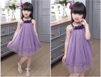 Wholesale Kids big virgin girls new summer Korean version of children girl sleeveless veil dress