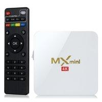 Wholesale MX mini Android TV Box Amlogic S905 Chipset MXQ mini Android Lollipop Quad Core G G K H H Kx2K FPS
