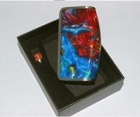 epoxy resin - Hot selling top hat sj350 chip D box mod TC W with epoxy resin drip tip