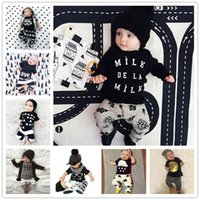 baby pants pattern - INS Popular Summer Baby Kid New Suits T Shirt Pants Clothes Girls Boys Set T shirt Trousers Outfits Cartoon Printed Patterns