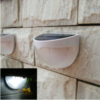 Clear Glass Art Deco Wall Mouted Solar Power powered Saving Efficient Bright 6LED Fence Garden Wall Path Outdoor Hemispheric Light Lamp