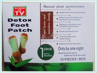 Wholesale 1Boxes Cleansing Detox Foot Kinoki Pads Cleanse Energize Your Body Box Patches DHL