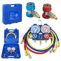 auto gauges set - R22 R134a R410a Refrigeration Kit Brass Auto Serivice Kit A C Manifold Gauge Set