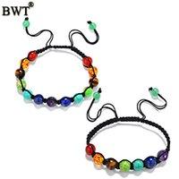 balance weave - Seven Chakra Healing Balance Beads Bracelet hand woven mm Beads Chakra Bracelets For Men Women Rhinestone Reiki Prayer Stones
