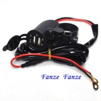 Wholesale Universal Motorcycle Waterproof Dual USB Phone Charger Motorbike Handlebar GPS V Power Supply A