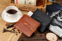 alligator money clip - New Fashion leather luxury wallet crocodile grain casual short design card holder money purse clips wallets for men high quality DHL