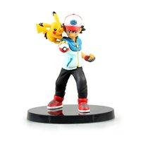 ash ketchum doll - New Nendoroid Pikachu Ash Ketchum Poke Go PVC Action Figure Toy Doll cm with box pocket monster Action Figures