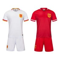 clothing china - Men Short Sleeve Sportswear Summer Jogging Clothing Training sets Soccer team kits Football jersey China national team Home and away