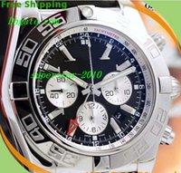 bb battery - NEW Top Quality Luxury Watches Equipped original box Brand BB Chronomat mm Chronograph Black Leather AB041012 BA69 Quartz Mens