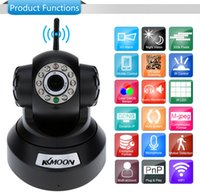 Wholesale Free DHL CCTV Surveillance Cameras KKMOON HD MP IP Camera PnP P2P Pan Tilt IR Cut WiFi Wireless Network Security IP Webcam