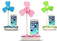 battery operated phone - Novelty DIY Mini USB fan with mobile phone holder USB Power or Battery operated Desktop Mini Cooling Fan with stand mobile bracket