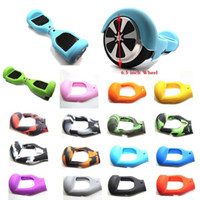 Wholesale Anti Scratch Sleeve Wrap Enclosure quot Wheels Self Balancing Electric Scooter Silicone Rubber Case Cover for Hoverboard Skateboard dhl