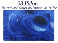 bedding popular comforter set - Popular Galaxy bedding sets d blue moon and stars Universe Outer Space Themed bedclothes duvet covers bed sheets queen