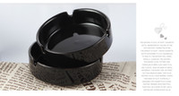 Wholesale With famous pattern C black ashtray ceramics with classic logo C white round ashtray color Optional dropping shipping