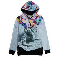 abstract hoodies - Alisister new fashion The Thinker Printing Abstract hoodies Unisex Women Men Casual d sweatshirt men women harajuku jacket tops