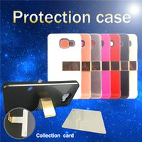Wholesale Newest Cell Phone Case IN TPU PC With Wallet Card Pocket Cell phone Kickstand For Iphone G Plus