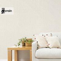 beige stripe wallpaper - Plain Solid Color Cream Beige Grey Vertical Stripes Wallpaper For Bedroom Hallway Decortive