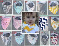 Wholesale Baby Bibs Cotton Dot Chevron Bandana Bibs Infant Babador Saliva Burp cloths Towel Baberos For Newborn Baby Girls Boys M11