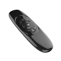 Wholesale C120 T10 GHz USB mini wireless flying mouse universal remote controller with QWERTY keyboard for Windows Mac Android Linux TV Box