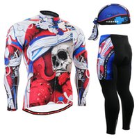 Wholesale Life on Track Men s Long Sleeve Cycling Jersey Sets Breathable Gel Padded MTB Tights Sportswear for All season Cycling