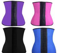 Wholesale 9 steel bone Latex Rubber corset body shaper Waist Trainer training corsets Corset Latex Corset Latex Waist CincherSlimming Shapewear