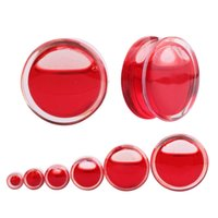 Wholesale 2016 New Fashion Red Acrylic Ear Plugs Cool Ear Expanders Stretchers and Saddles Ear Reamers Hot Body Piercing Jewelry