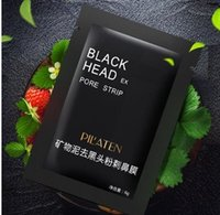 Wholesale 3600pcs DHL PILATEN Suction Black Mask Face Care Mask Deep Cleaning Tearing Style Pore Strip Deep Cleansing Nose Acne Blackhead Facial Mask