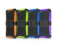 Wholesale For Ipod Touch G th G th Touch6 iTouch Rugged Kickstand Spider Fashion Hard Heavy Duty Armor TPU Hard Case Shockproof Square Cover