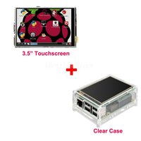 acrylic model display case - Best Price Original quot LCD TFT Touch Screen Display for Raspberry Pi Model B Board Acrylic Case Stylus Free