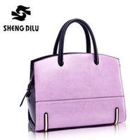 Wholesale Lady s Genuine Leather Single Shoulder Bag Vintage Female Panelled Portable Bags Brief Colorful Tote Bag