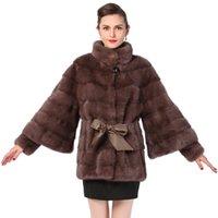 bean coat - New Style Winter Warm real fur coat Genuine Leather Purple bean paste Mandarin Collar coats of fur Natural fur coats coat fur