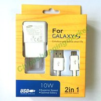 Wholesale Quick Charge Top in EU US Plug Adaptive Wall Charger Kits USB Data Sync Cable For Samsung Galaxy S4 S5 S6 S7 edge Note Android