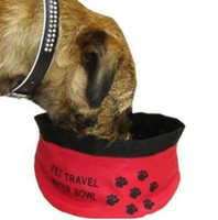 Wholesale 2016 hot sale Pet Dog Cat Collapsible Foldable Travel Camping Food Water Feeder Bowl Dish