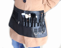 Wholesale New arrived popular black cosmetic brush case Artist Makeup Brushes Belt Strap Pockets Case Bag Cosmetic Tool