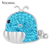 alloy shark - VOCHENG NOOSA Ginger Snap Jewelry Lovely Clay Shark Colors mm Coastal Button Vn