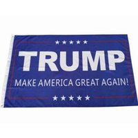 Wholesale 90 cm Trump x5 Foot Flag Make America Great Again Donald for President USA American Presidential Election Flag Polyester Flag