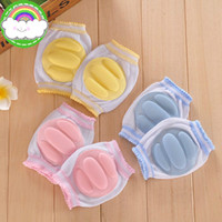 Wholesale 10pcs Baby Knee Pads Safety Crawling Elbow Cushion Infant Toddlers Cotton Spandex Baby Girls Boys Knee Pads Protector