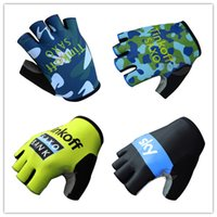 army bank - 2015 Team Tinkoff Saxo Bank Cycling Gloves SKY GIANT QUICK STEP LAMPRE Bike Gloves Gel Half Finger Road Bicycle Gloves Army Color