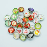 beauty glass accessory - Hot sale Beauty NB0023 Christmas Mixed MM Photo Glass cabochon Ginger snap buttons for DIY ginger snap jewelry bracelet Accessories