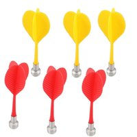 Wholesale 100pcs Magnetic Flat Tips Dart Darts for Two Sided Magnetic Dart Board Red Yellow